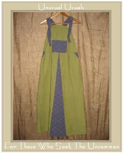 FLAX Long Blue Green Floral Jump Dress Jeanne Engelhart SMALL S