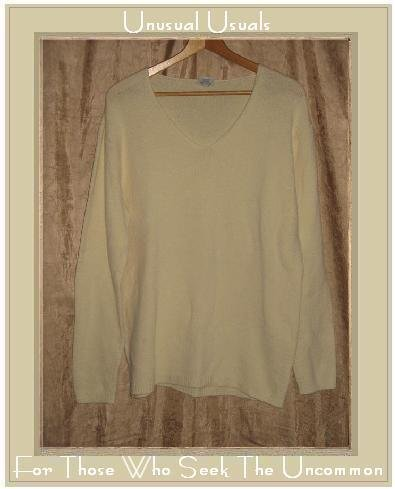 CP SHADES Soft Cream Knit Pullover Sweater Top Large L