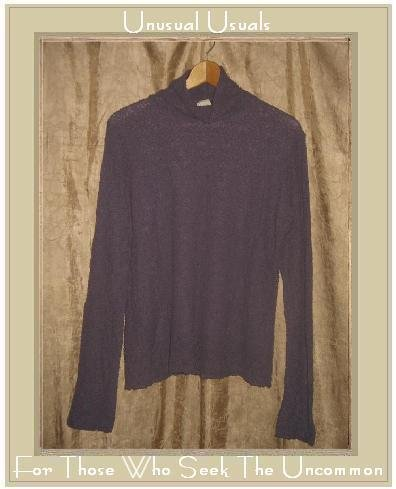 J. Jill Purple Textured Knit Turtleneck Tunic Top Shirt Large L