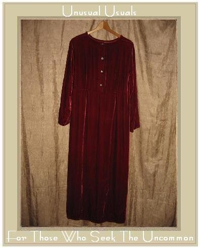 KIKO Comfortable Long Red Rayon Silk Velvet Dress Small S