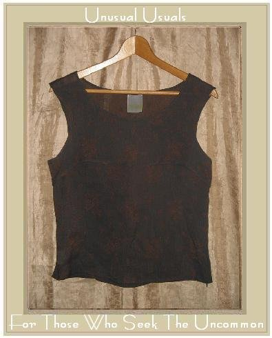 CLEA Boutique Shapely Ethereal Leaf Tank Top Shirt Small S