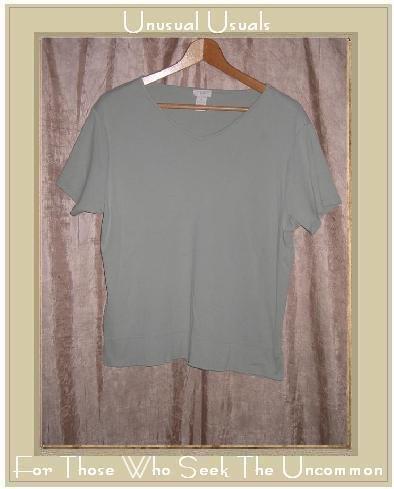 J. Jill Soft Green Cotton Tee Shirt Top Medium M