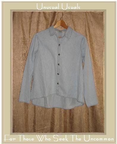 J. Jill Light Denim Button Shirt Top X-Small XS