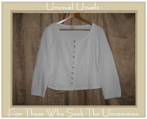 J. Jill Soft White Knit Snappy Jacket Shirt Top Large Petite LP