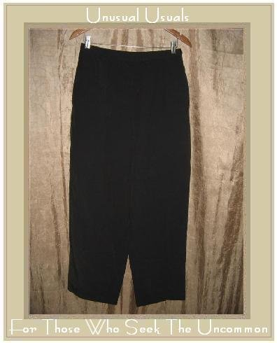 J. JILL Heavy Black Linen Pants Slacks Size 8
