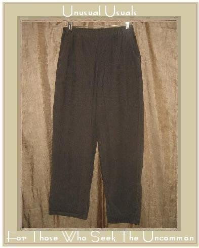 FLAX by Jeanne Engelhart Brown Cotton Corduroy Pants MEDIUM M
