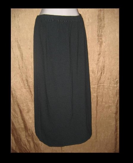 FLAX by Jeannge Engelhart Long Jewel Blue Skirt Medium M
