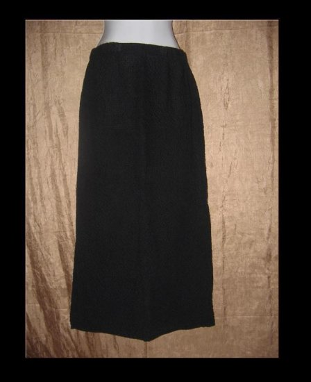FLAX by Jeannge Engelhart Long Puckered Skirt Small S