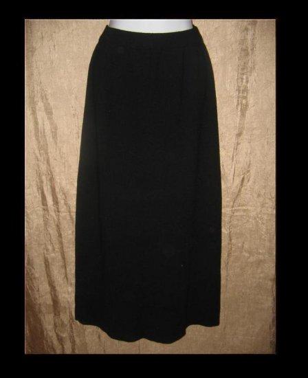 EILEEN FISHER Long Black Wool Skirt Small S