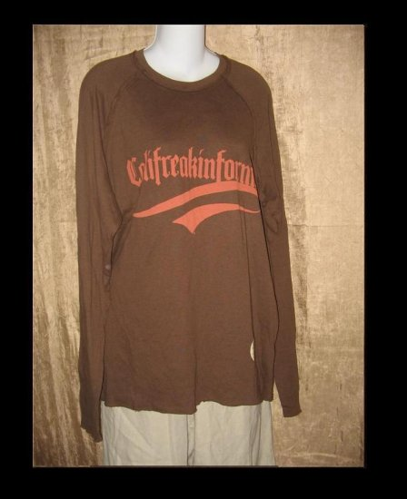 New JUICY COUTURE Soft Brown Long Sleeve Tee Knit Pullover Top Shirt X-Large XL