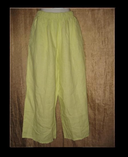 Bryn WALKER Boutique Green LINEN Flood Pants Medium M
