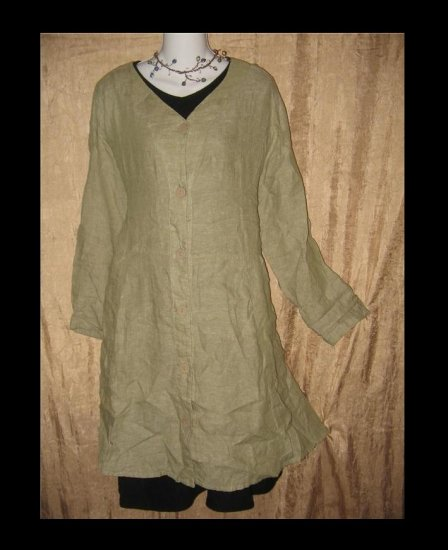 FLAX Shapely Jacket Shapely Tunic Top Dress Jeanne Engelhart LARGE L