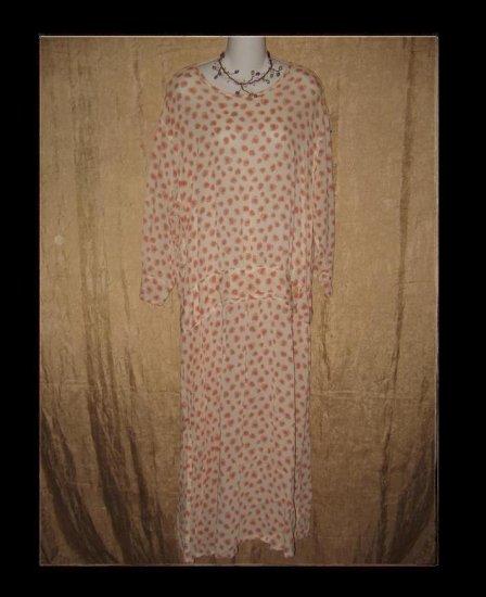 FLAX Pink Petal Twenties Theme Dress Jeanne Engelhart Medium M