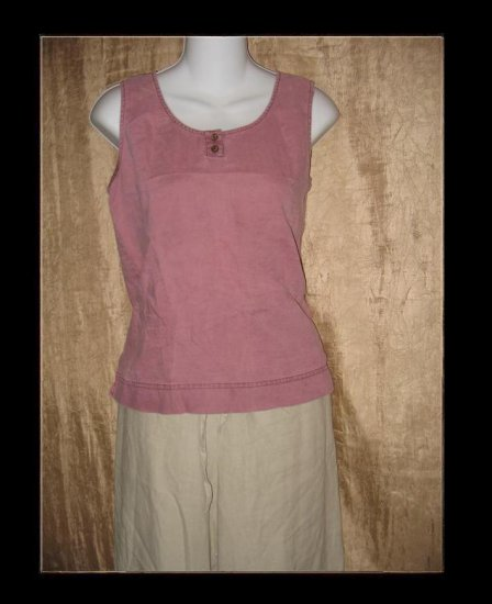 J. Jill Purple LINEN Tunic Tank Shirt Top Small S