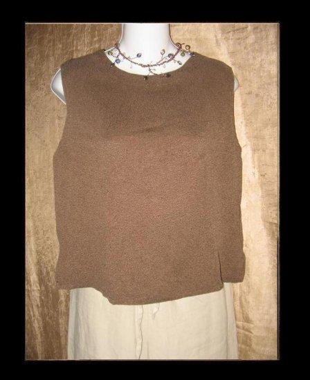 CUT LOOSE Soft Brown Knit Tank Top Shirt Medium M