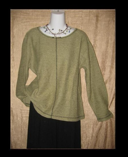 PUTUMAYO Earthy Nubby Knit Pullover Shirt Top Large L