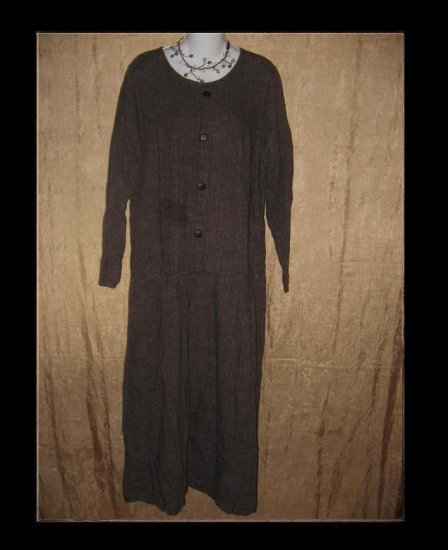 FLAX by ANGELHEART Long Berry Stripe Dress Engelhart Small S