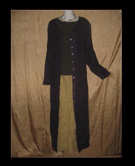 FLAX New Purple Duster Dress Jeanne Engelhart 1 Generous 1G
