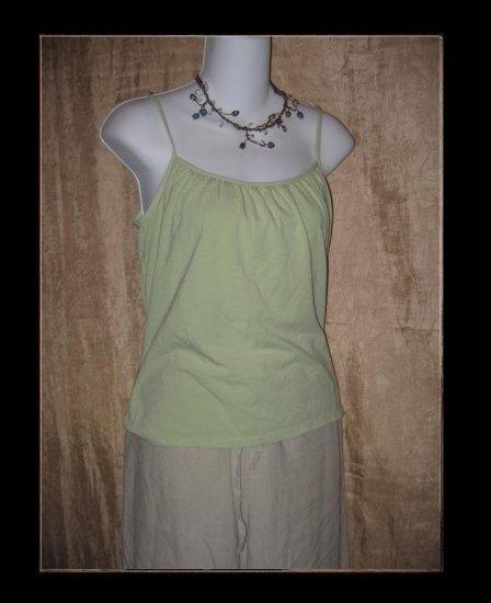 J. Jill Soft Green Knit Pullover Shirt Tank Top Medium M