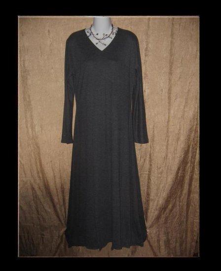 CLOTHESPIN Boutique Long Gray Knit Dress Engelhart Flax Medium M