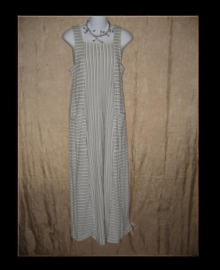 CLOTHESPIN Striped Shapely Knit Dress Engelhart Flax Small S