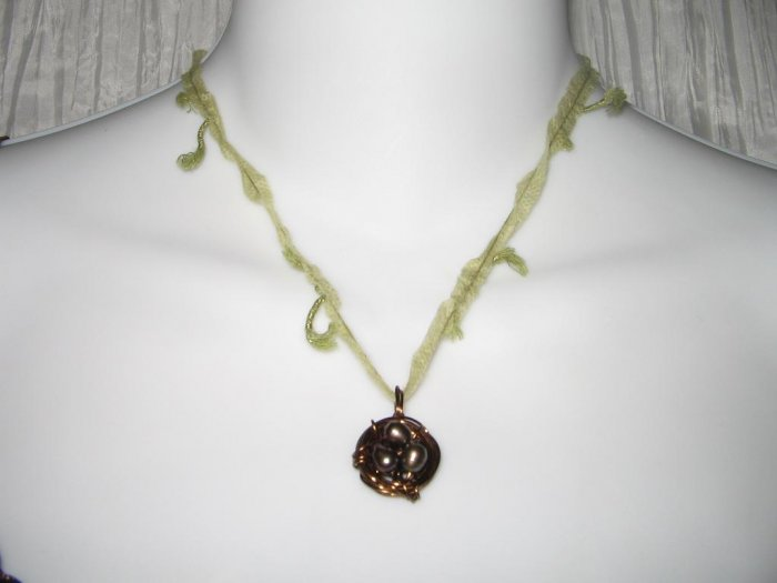 NEW Ever & Anon Whimsical Birds Nest Pendant Necklace