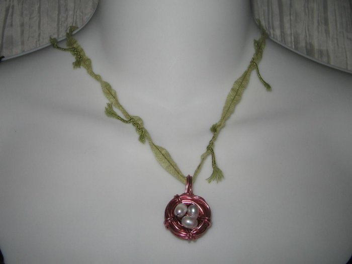 NEW Ever & Anon Whimsical Morning Dove Birds Nest Pendant Necklace
