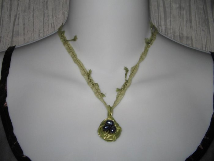 NEW Ever & Anon Whimsical Bluebird Birds Nest Pendant Necklace