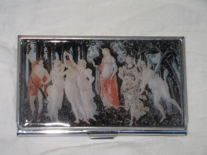 Botticelli Primavera Business Credit Card ID Cash Case Slim Metal Wallet