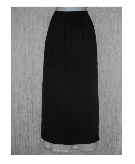 PATINA Boutique Long Black Textured Skirt Large L