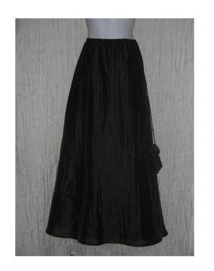 A.B.S. Evening Essentials Long Full Textured Black Skirt Medium M