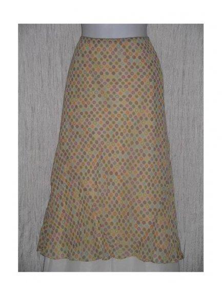 SIGRID OLSEN Sport Long Fluttery Dotted Rayon Skirt Large L