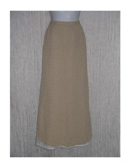 Putumayo Long Fluttery Textured Rayon Skirt Medium M