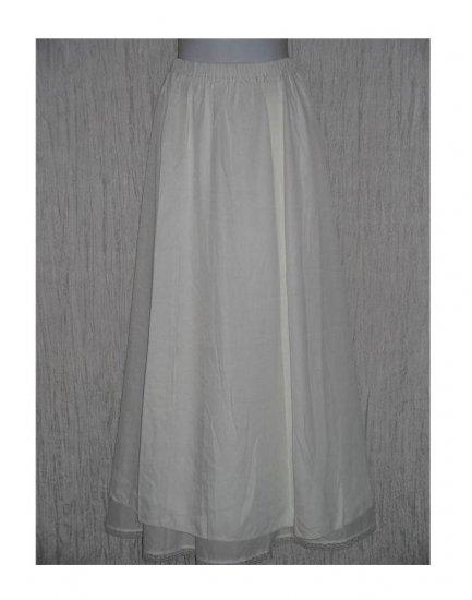 New Jackie Loves John Long Slinky White Skirt Size 1 S M
