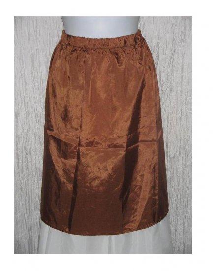 New Yellin NY Short Slinky Bronze Acetate Skirt One Size OS
