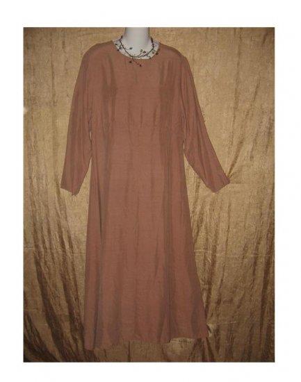 YELLIN NY Long Mauve Silk Pullover Dress Medium M