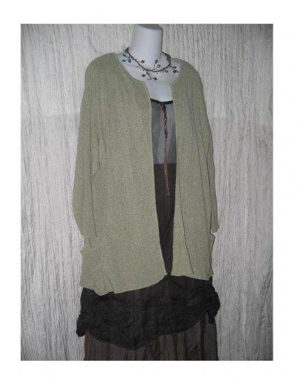 Coldwater Creek Silk Lagenlook Open Cardigan Sweater X-Large XL