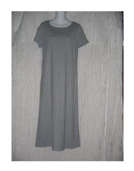 Coldwater Creek Gray Knit Pullover Tunic Dress Petite Small PS