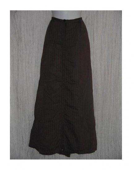 Angelheart Designs Long & Full Striped Snappy Skirt Jeanne Engelhart FLAX Large L