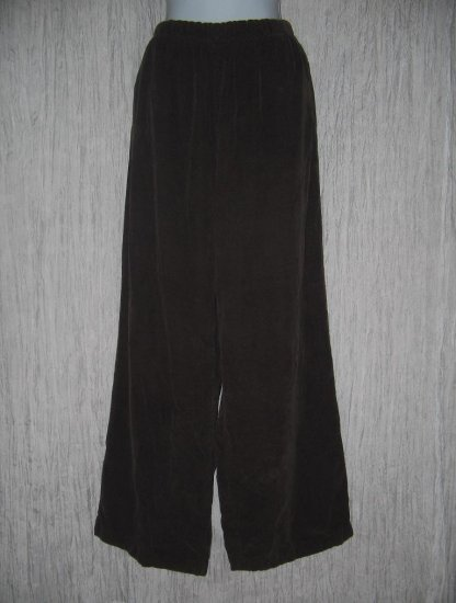 CP Shades Long Chocolate Bown Wide Leg Corduroy Pants Large L