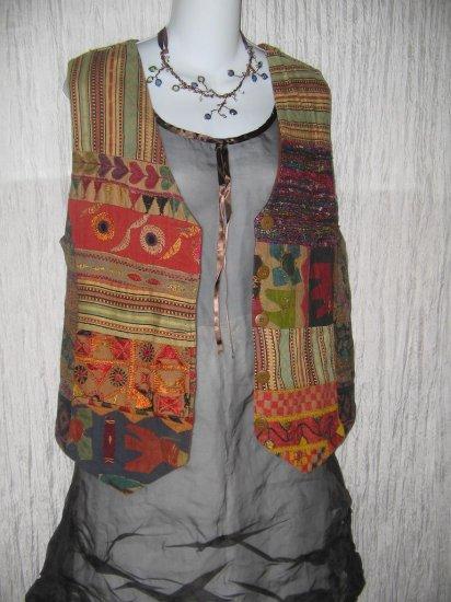 Jacque & Koko Rich Patchwork Tapestry Vest Size 14 / 16