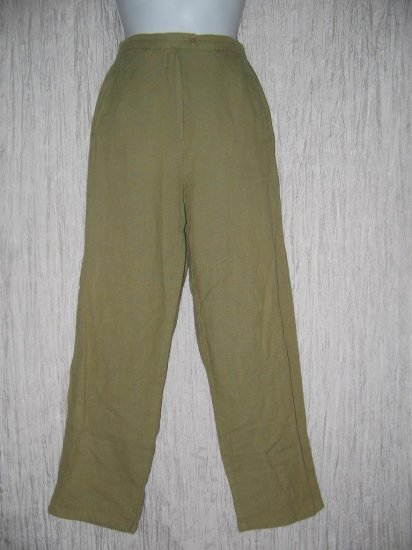 Essentials by PUTUMAYO Leafy Green Trousers Pants Large L