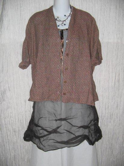 FLAX by Jeanne Engelhart Linen Button Shirt Top 1 Generous G
