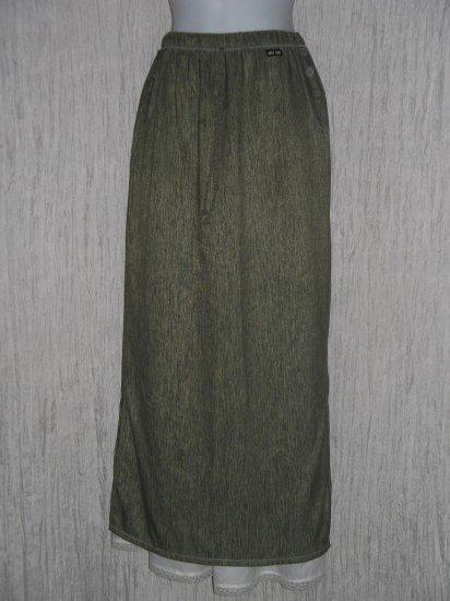 MISS RUDY Long Earthy Striped Lagenlook Skirt M L