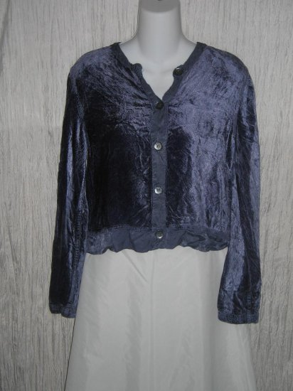 CUT LOOSE Soft Purple Velvet Boxy Button Jacket Top Shirt Small S