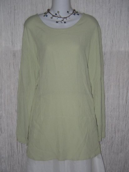Jeanne Engelhart FLAX Gingham Tunic Top Shirt Dress Petite P