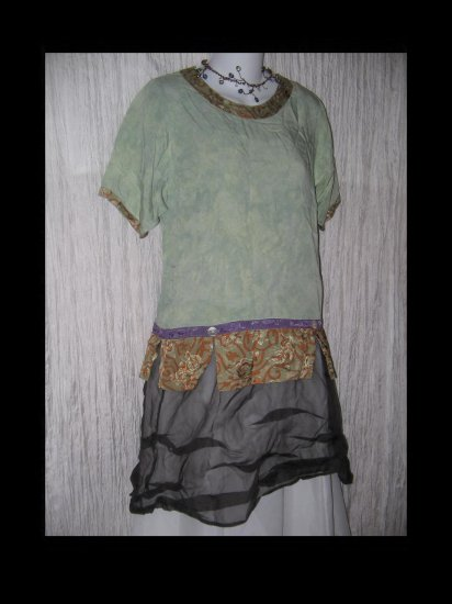 Simple People Nothing Matches Rayon Tunic Top Shirt Small S