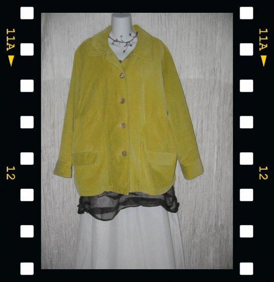 J. Jill Soft Lined Green Corduroy Coat Jacket 2X 3X 4X