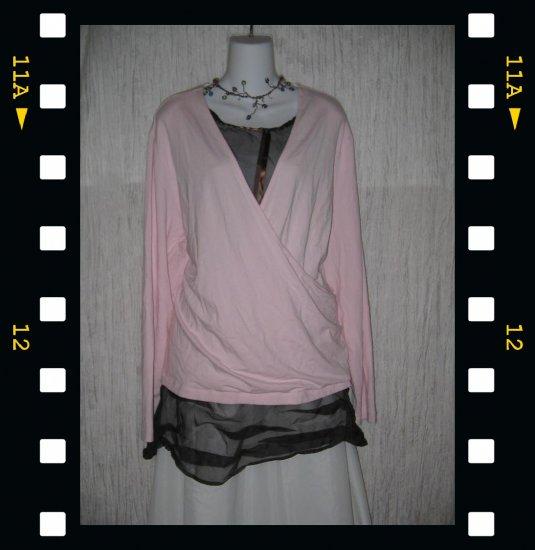 J. Jill Soft Pink Rayon Knit Wrapped Tunic Top Shirt 4X