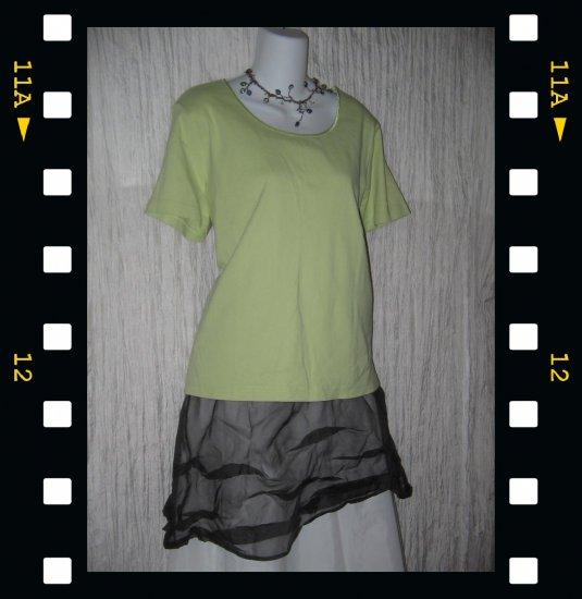 J. JILL Soft Green Cotton Knit Pullover Shirt Top X-Large XL